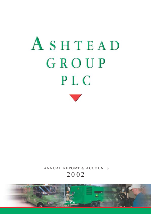 Ashtead Group annual report 2002