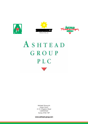 Ashtead Group annual report 2003