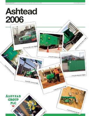 Ashtead Group annual report 2006