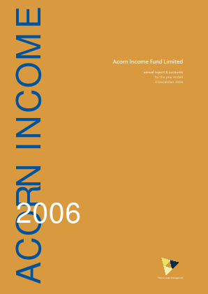 Acorn Income Fund annual report 2006