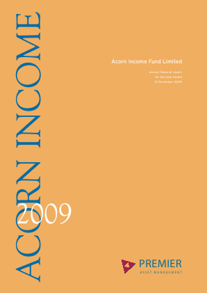 Acorn Income Fund annual report 2009