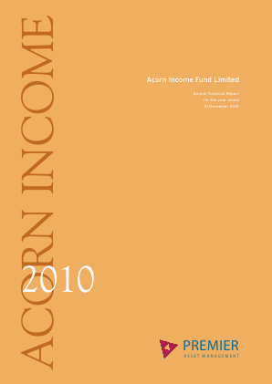 Acorn Income Fund annual report 2010