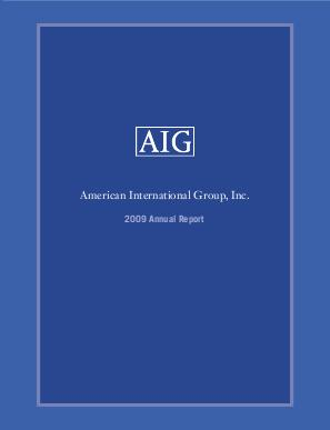 AIG annual report 2009