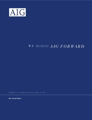 AIG annual report 2011
