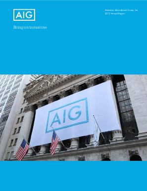 AIG annual report 2012