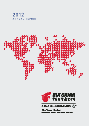 Air China annual report 2012