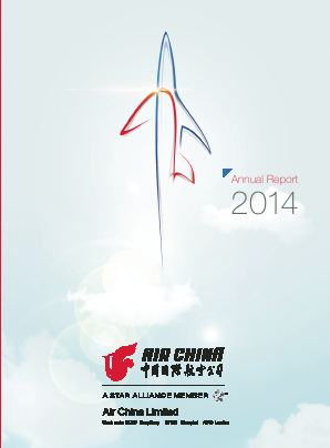 Air China annual report 2014