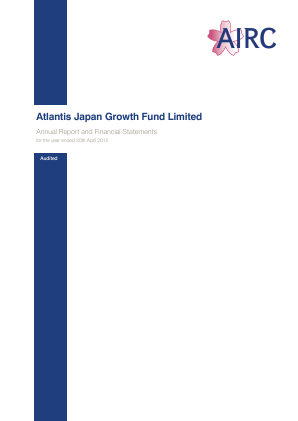 Atlantis Japan Growth Fund annual report 2015