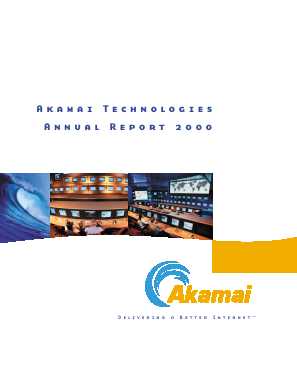 Akamai Technologies Incorporated annual report 2000