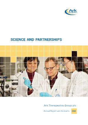 Ark Therapeutics annual report 2010