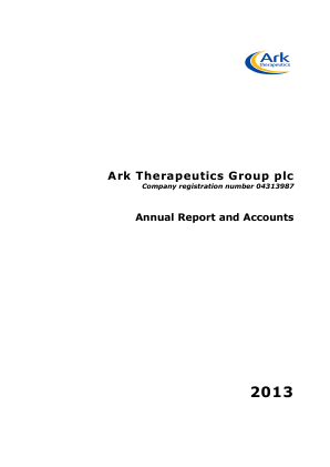 Ark Therapeutics annual report 2013