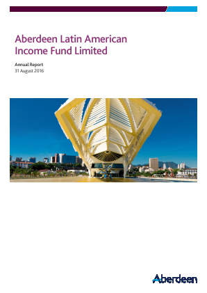 Aberdeen Latin American Income Fund annual report 2016