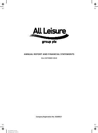 All Leisure Group Plc annual report 2010
