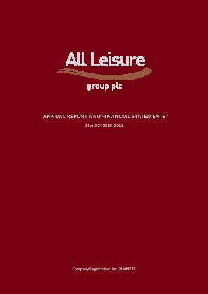 All Leisure Group Plc annual report 2011