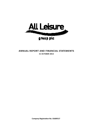 All Leisure Group Plc annual report 2013