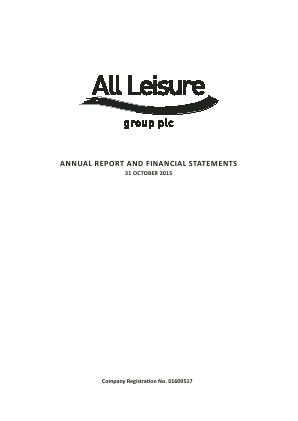All Leisure Group Plc annual report 2015