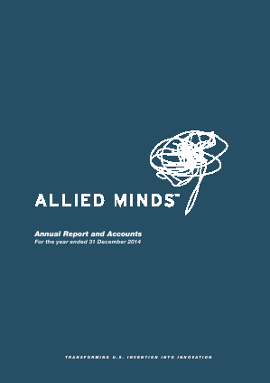 Allied Minds annual report 2014