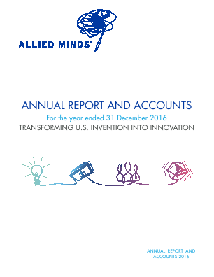 Allied Minds annual report 2016