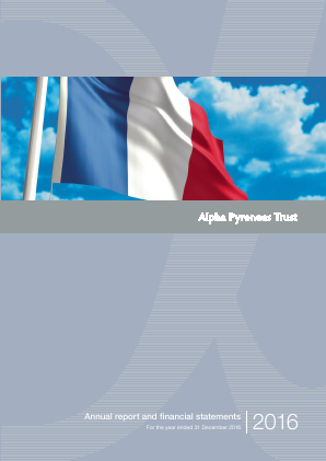 Alpha Pyrenees Trust annual report 2016