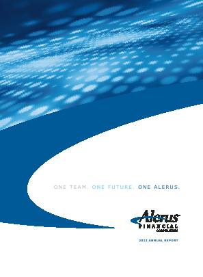 Alerus Financial Corporation annual report 2012