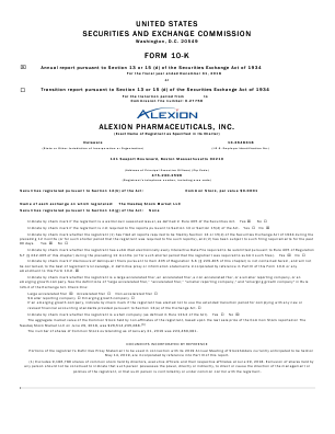 Alexion Pharmaceuticals Incorporated annual report 2018
