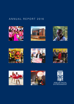 African Media Entertainment annual report 2016