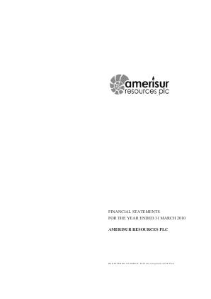 Amerisur Resources Plc annual report 2010
