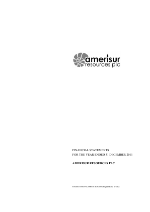 Amerisur Resources Plc annual report 2011