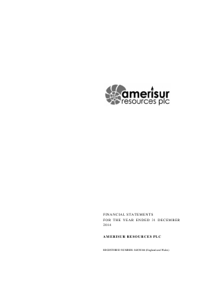 Amerisur Resources Plc annual report 2014