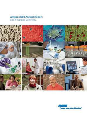 Amgen Incorporated annual report 2008