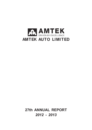 Amtek Auto annual report 2013