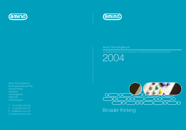 Amino Technologies annual report 2004