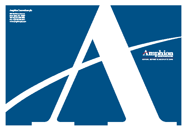 Amphion Innovations Plc annual report 2006