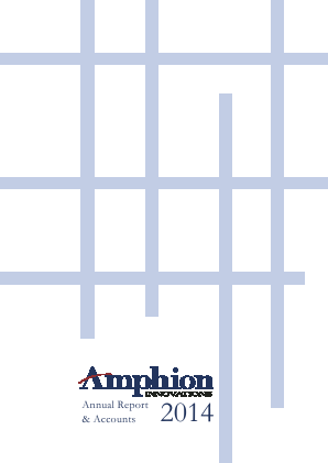 Amphion Innovations Plc annual report 2014