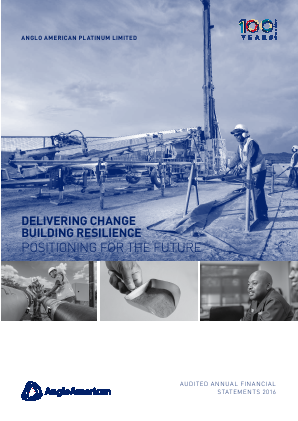 Anglo American Platinium annual report 2016