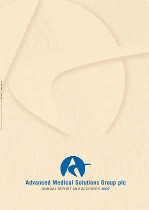 Advanced Medical Solutions Group annual report 2002
