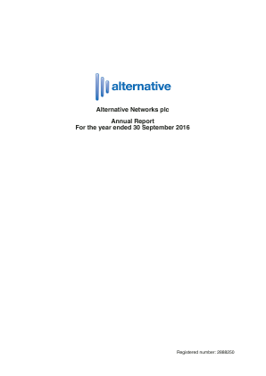 Alternative Networks annual report 2016