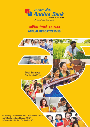 Andhra Bank annual report 2016