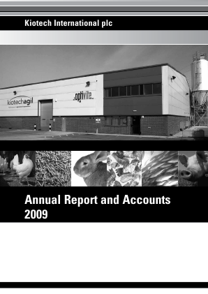 Anpario Plc annual report 2009