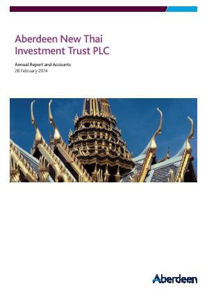Aberdeen New Thai Investment Trust annual report 2014