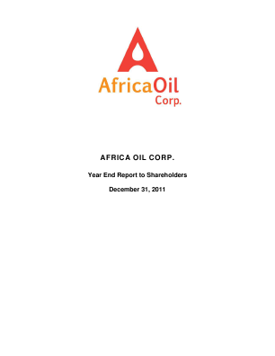 Africa Oil annual report 2011