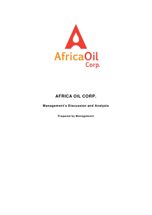 Africa Oil annual report 2012