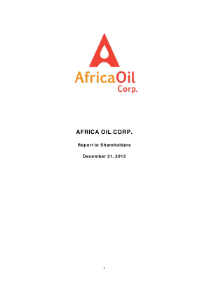 Africa Oil annual report 2013
