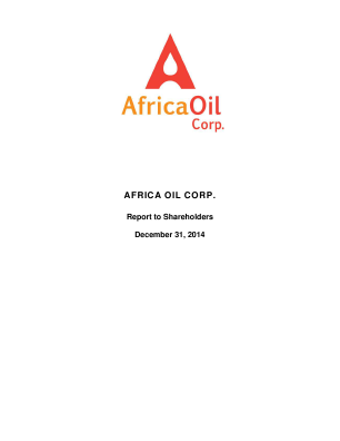 Africa Oil annual report 2014