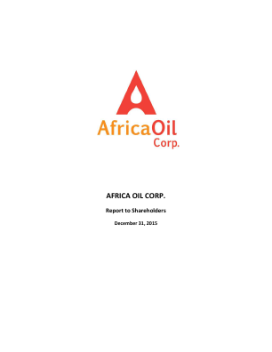 Africa Oil annual report 2015