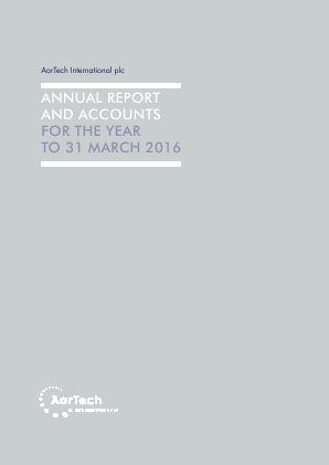 Aortech International annual report 2016