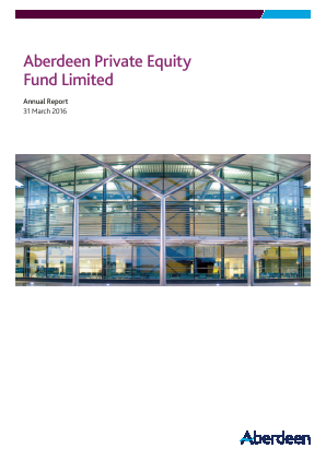 Aberdeen Private Equity Fund Ltd annual report 2016