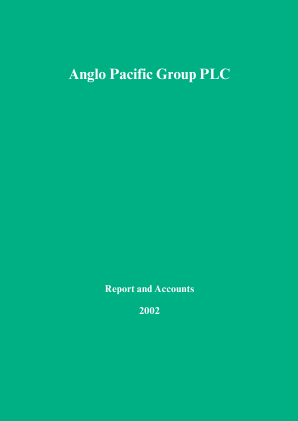 Anglo Pacific Group annual report 2002