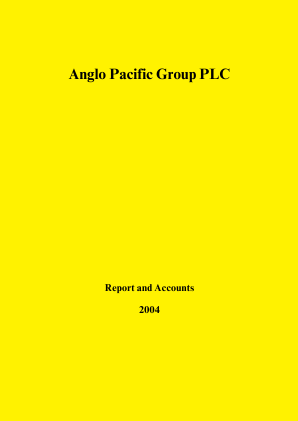 Anglo Pacific Group annual report 2004