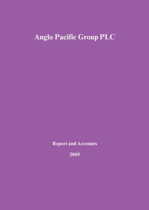 Anglo Pacific Group annual report 2005